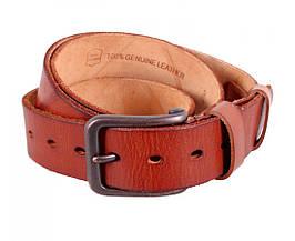 Мужской кожаный ремень коричневый Buffalo Italy BUFF000-2