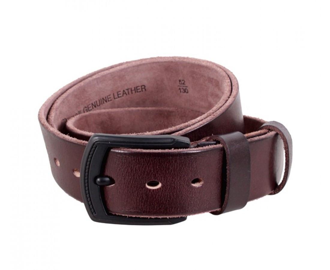 Мужской кожаный ремень коричневый Buffalo Italy BUFF000-5