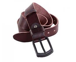 Мужской кожаный ремень коричневый Buffalo Italy BUFF000-5, фото 2