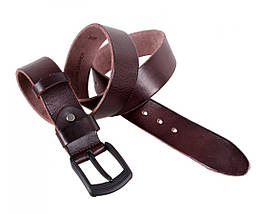 Мужской кожаный ремень коричневый Buffalo Italy BUFF000-5, фото 3