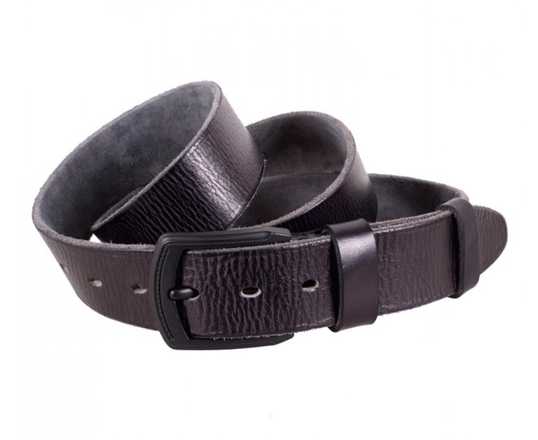 Мужской кожаный ремень черный Buffalo Italy BUFF000-6