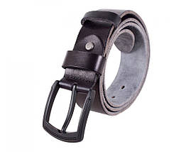 Мужской кожаный ремень черный Buffalo Italy BUFF000-6, фото 2