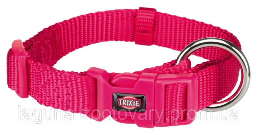 ТХ-201511 Ошейник Premium нейлон, S–M  30–45см/15мм  для собак, фуксия