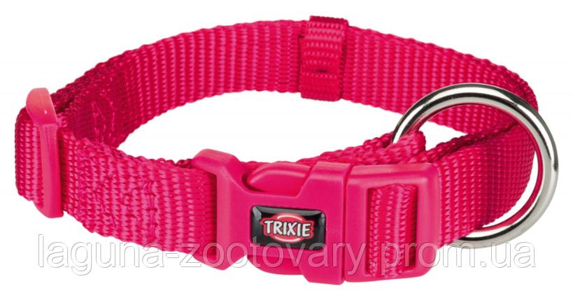ТХ-201511 Ошейник Premium нейлон, S–M  30–45см/15мм  для собак, фуксия, фото 2