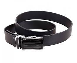 Мужской кожаный ремень черный Dovhani Italy ALD666-27, фото 3