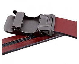Мужской кожаный ремень коричневый Shpenek MGA101-6, фото 2