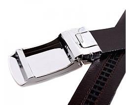 Мужской кожаный ремень бордовый Shpenek MGA101-12, фото 3