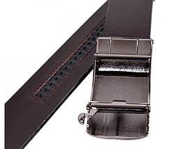 Мужской кожаный ремень бордовый Shpenek MGA101-13, фото 3