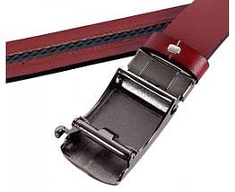 Мужской кожаный ремень коричневый Shpenek MGA101-18, фото 2
