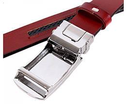 Мужской кожаный ремень коричневый Shpenek MGA101-10, фото 2