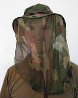 Шляпа с камуфлированной антимоскитной сеткой