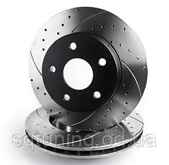 Тормозной диск Mikoda GT для  Fiat Bravo (1995-2001) (перед./вентил.) [0322]