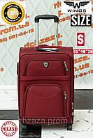 Маленький прочный темно-красный дорожный чемодан на 2 колесах фирма Wings  Одесса Украина 8f63481c28d