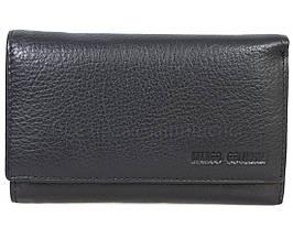 Кожаный кошелек унисекс черный Marco Сoverna MC1418-1-BLACK