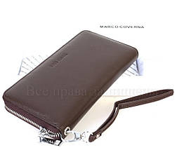 Кожаный кошелек женский коричневый Marco Сoverna MC7003-9-BROWN, фото 2