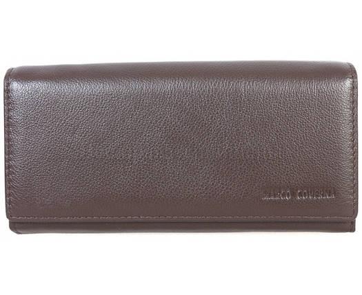Женский кожаный кошелек коричневый Marco Сoverna MC1411-9-BROWN, фото 2