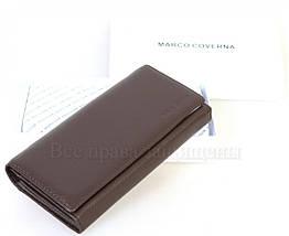 Женский кожаный кошелек коричневый Marco Сoverna MC1411-9-BROWN, фото 3