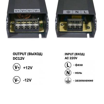 Блок питания 350W Professional для светодиодной ленты DC12 BPU-350 29.2А, фото 2