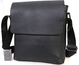 Мужская кожаная сумка через плечо черный  (Формат: А5) NAVI NV2R006, фото 2