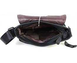 Мужская кожаная сумка через плечо черный  (Формат: А5) NAVI NV2R006, фото 3