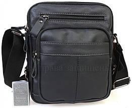 Мужская кожаная сумка через плечо черный  (Формат: А5) NAVI NVPRE5262D-BLACK, фото 2