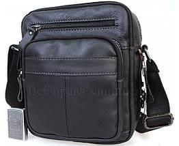 Мужская кожаная сумка через плечо черный  (Формат: А5) NAVI NVPRE5262D-BLACK, фото 3