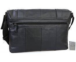 Мужская кожаная сумка черный  (Формат: А4 и больше) NAVI NVPRE1862-BLACK, фото 3
