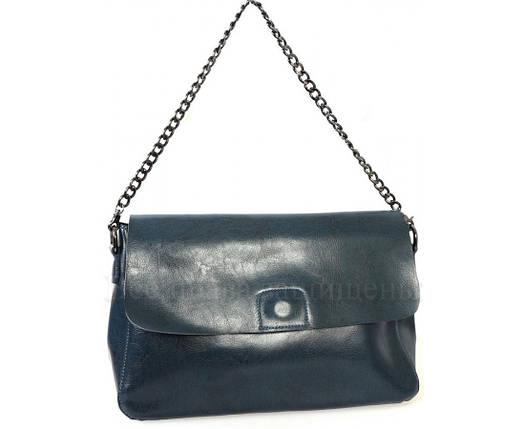 Женская кожаная сумка синий  (Формат: больше А5) SK Leather Collection SKY1908-BLUE, фото 2