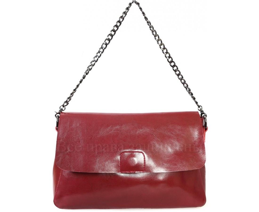Женская кожаная сумка красный  (Формат: больше А5) SK Leather Collection SKY1908-RED