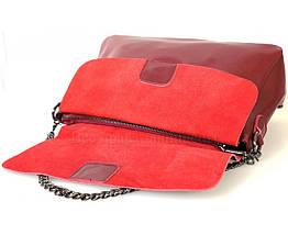Женская кожаная сумка красный  (Формат: больше А5) SK Leather Collection SKY1908-RED, фото 2