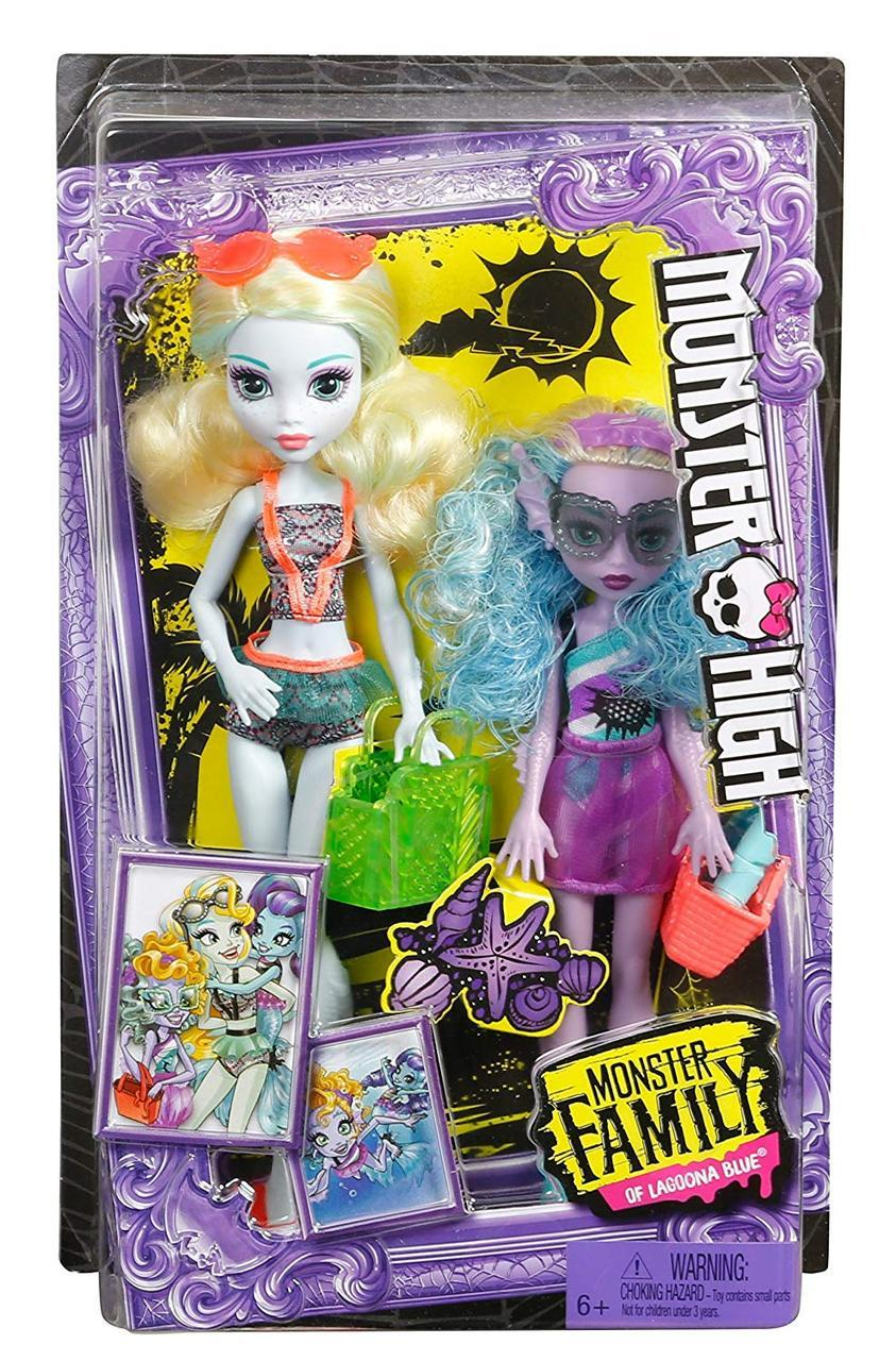 Набор кукол Monster High Лагуна Блю и сестра Келпи Блю Monster Family Lagoona Blue and Kelpie Blue