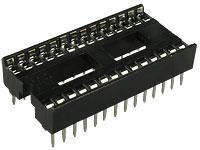 Панелька для мікросхем ISCL-32, шир-7,62мм, крок 1.77, вузька