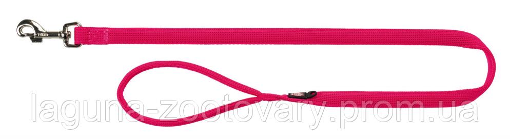 ТХ-16388 Поводок Comfort Soft M–L, 1м/20мм для собак дышащий, нейлон,  фуксия