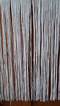 Белый дождик на елку - высота 1метр, ширина 22-24см, фольга