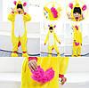 Пижама кигуруми для детей Единорог желтый, фото 3