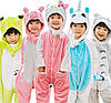 Пижама кигуруми для детей Единорог желто-белый, фото 7