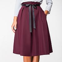 Юбка женская стильная из костюмной ткани с карманами, фото 1
