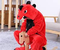 Пижама кигуруми для детей Дракон красный