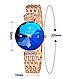 Женские наручные часы Baosaili сапфир в огне gold-blue / элитные кварцевые часы, фото 6
