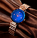 Женские наручные часы Baosaili сапфир в огне gold-blue / элитные кварцевые часы, фото 10