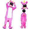 Піжама кигуруми для дітей рожевий Єдиноріг, фото 3
