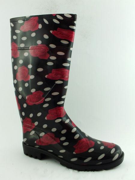 47204a63f Модные женские резиновые сапоги с рисунком, цена 273 грн., купить в  Харькове — Prom.ua (ID#778552441)
