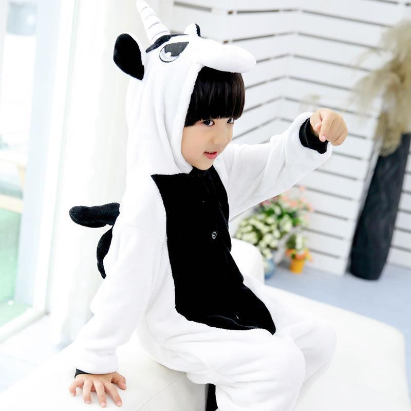 Пижама кигуруми для детей Единорог черный
