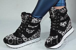 Модные женские сникерсы с леопардовым принтом Размеры 35- 37