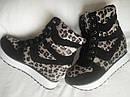 Модные женские сникерсы с леопардовым принтом Размеры 35 36, фото 3
