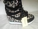 Модные женские сникерсы с леопардовым принтом Размеры 35 36, фото 4