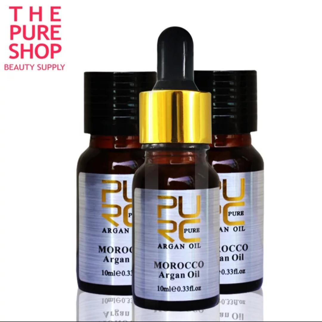 Натуральное концентрированное АРГАНОВОЕ МАСЛО для волос, ногтей, лица и тела  Argan Oil 10 ml