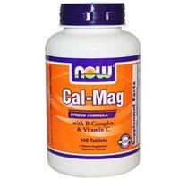 Кальций-магний Cтресс формула  100 таб избавление от стресса поддержка надпочечников Now Foods
