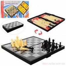 Шахматы магнитные 3в1 в кор. 24,5х12,5х3,5см. 2029 (72) [376212]
