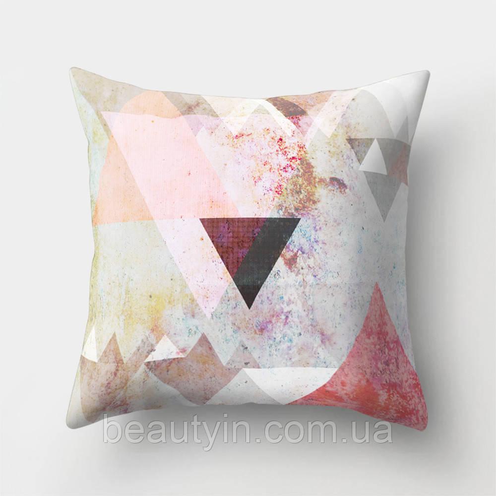Подушка декоративная Треугольники 45 х 45 см Berni